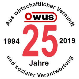 25 Jahre Owus Logo