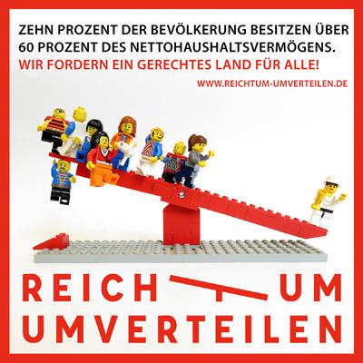 Lego Logo - Reichtum umverteilen